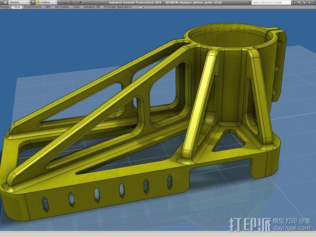 iPhone 5 奥克林巴斯显微镜 3D模型  图5