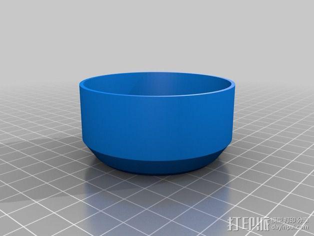 相机镜头罩 3D模型  图3