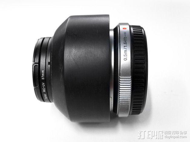 相机镜头罩 3D模型  图2
