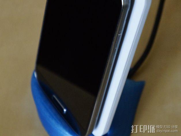 手机充电座 3D模型  图3