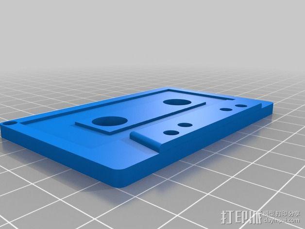 磁卡式钥匙扣 3D模型  图2