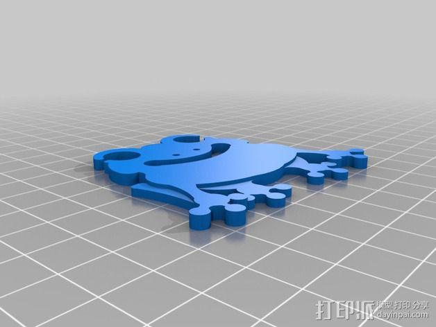 耳机绕线器 3D模型  图2