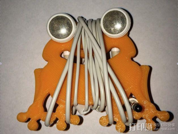 耳机绕线器 3D模型  图3
