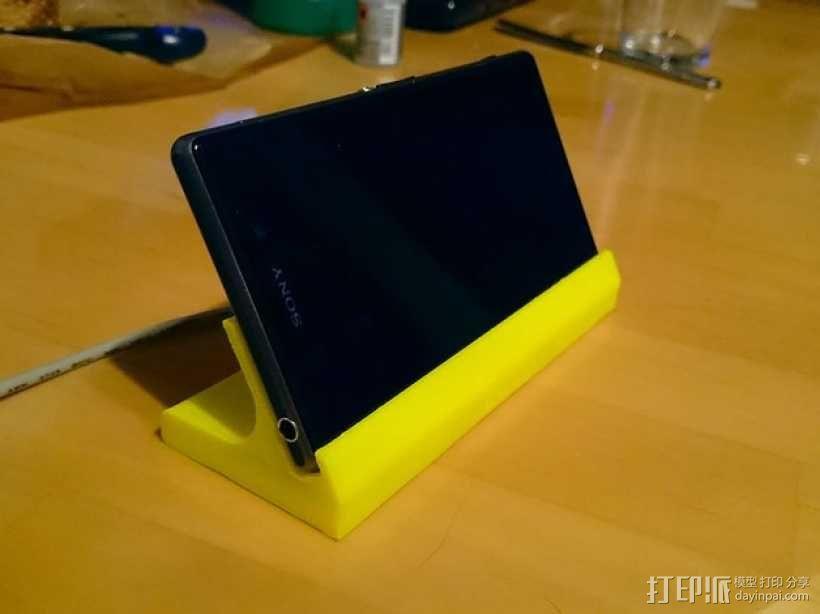 Sony Xperia Z1手机座 3D模型  图1