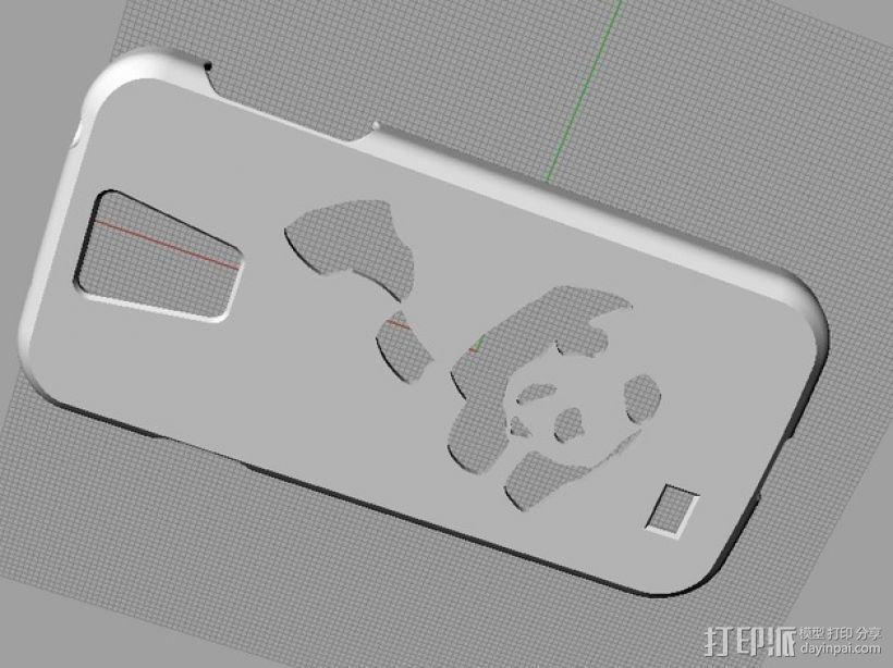 Samsung s4 手机壳 3D模型  图2