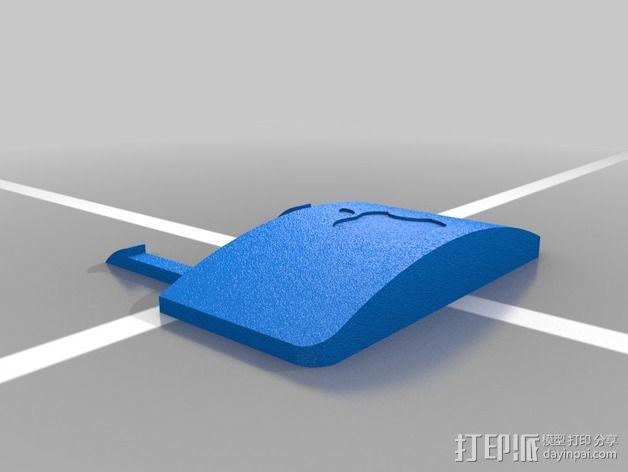 苹果遥控器壳子 3D模型  图3