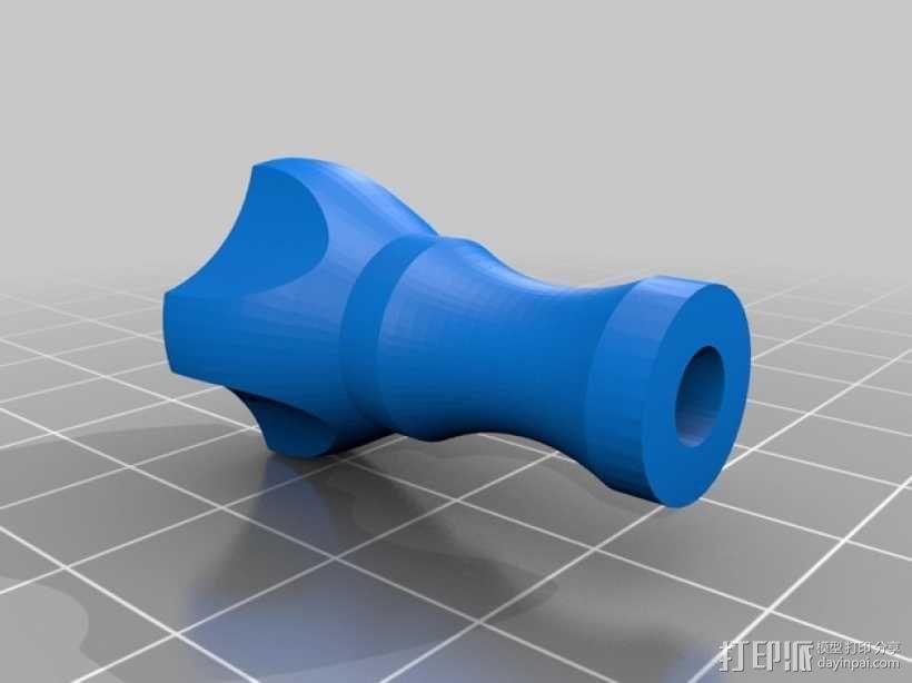 拇指螺丝 3D模型  图2