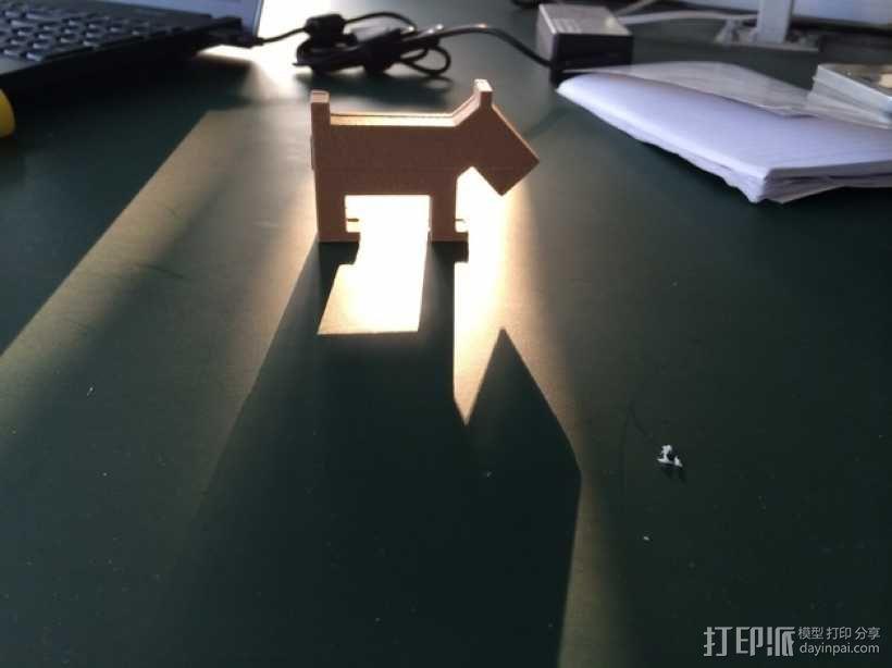 小狗USB磁盘 3D模型  图1