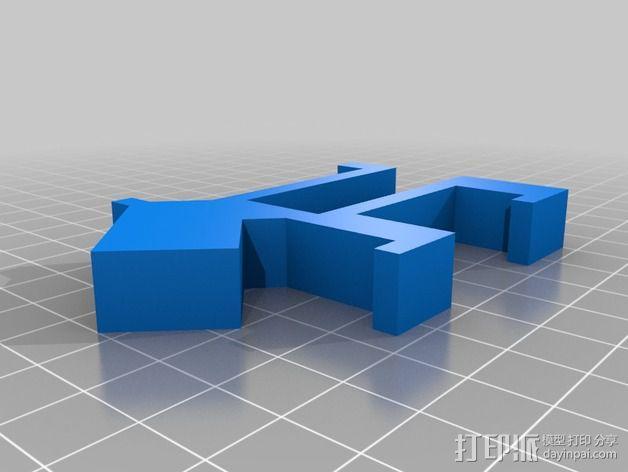 小狗USB磁盘 3D模型  图3
