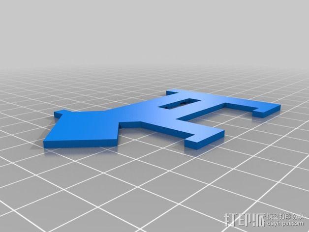 小狗USB磁盘 3D模型  图2