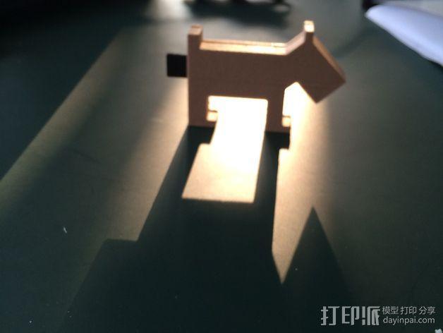 小狗USB磁盘 3D模型  图5