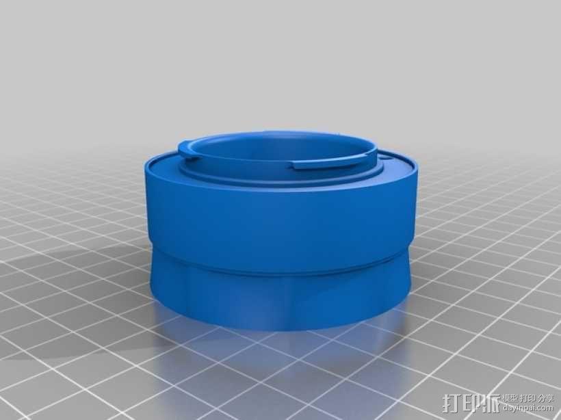 镜头盖 3D模型  图1