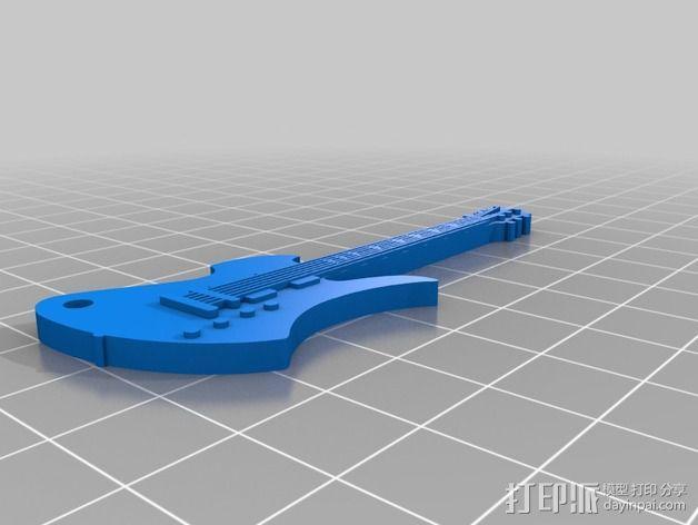 吉他摆件 3D模型  图3