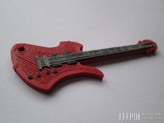 吉他摆件 3D模型  图1