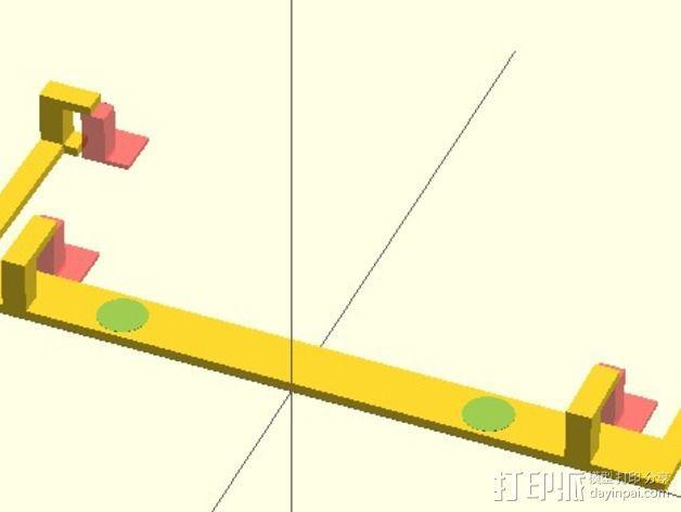 Nexus 4车载支架 3D模型  图3