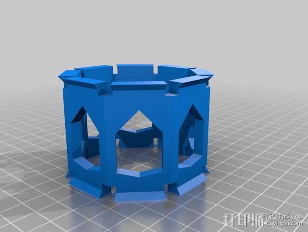 麦克风控制杆 3D模型  图4