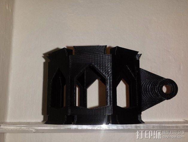 麦克风控制杆 3D模型  图3