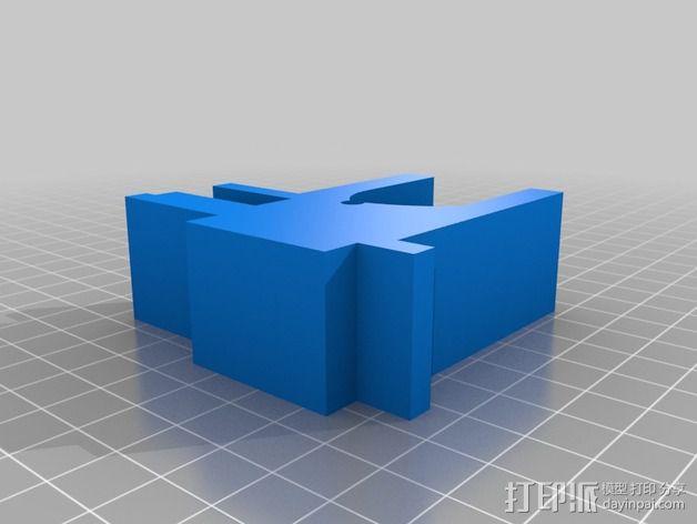 Samsung电视支撑 3D模型  图3