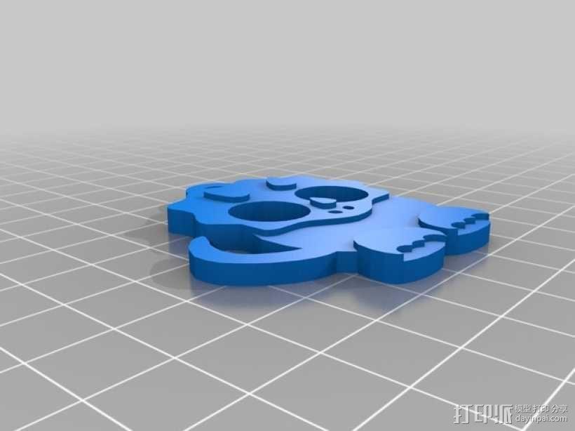恐龙绕线器 3D模型  图3