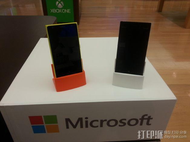 Nokia 928手机座 3D模型  图1