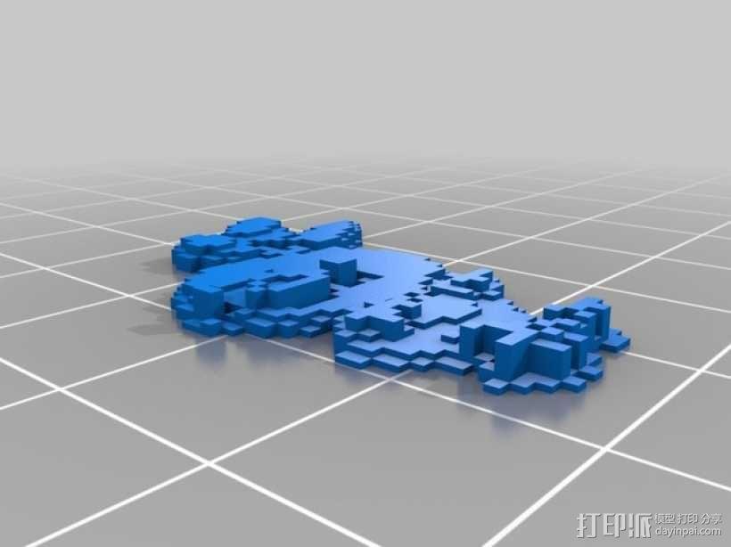 火鸡摆件 3D模型  图1