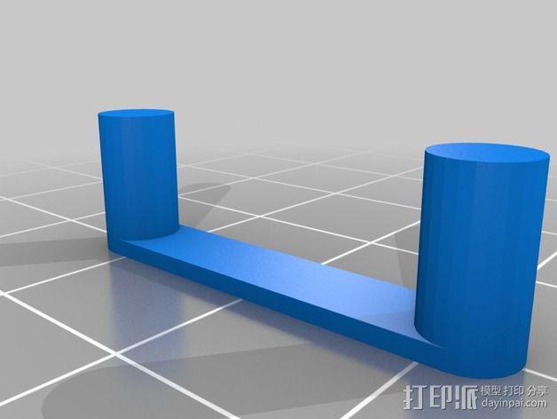 Galaxy Note 3 摩托车支架 3D模型  图2