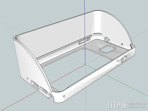 Galaxy Note 3 摩托车支架 3D模型  图1