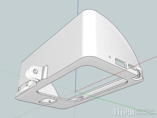 Galaxy Note 3 摩托车支架 3D模型  图6