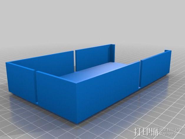 开口箱子 3D模型  图1