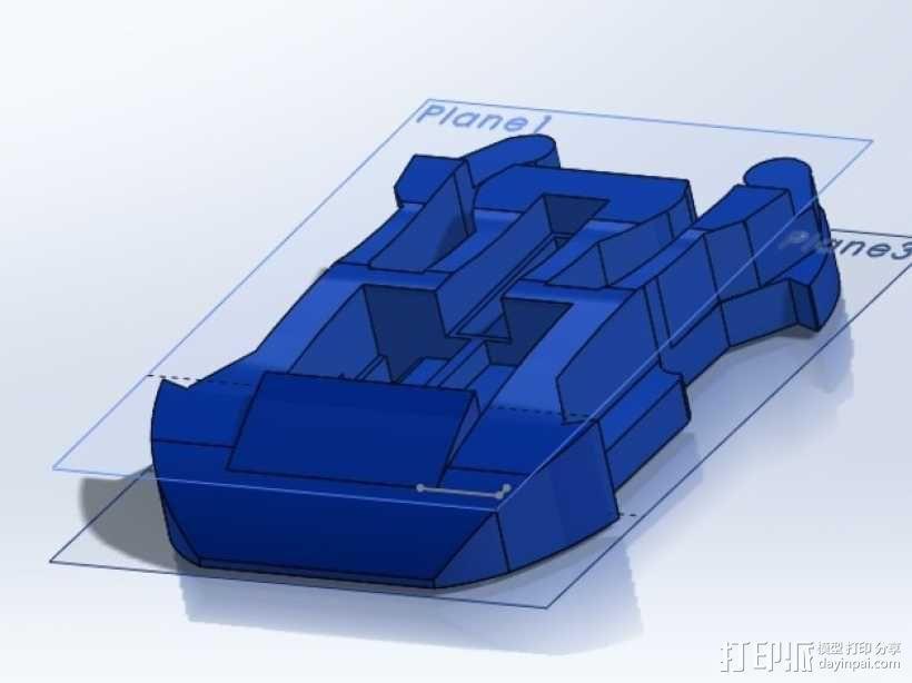 GoPro底板 3D模型  图1