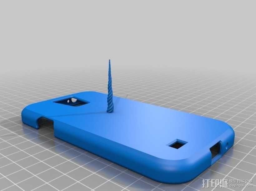 独角兽Galaxy S4 手机壳 3D模型  图1