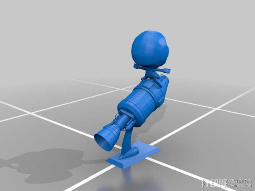 Kerbal Statue摆件 3D模型  图2