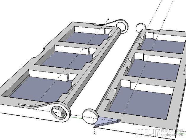 DS/3DS游戏机壳 3D模型  图1