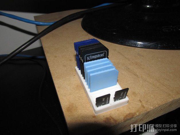 SD卡放置器 3D模型  图3