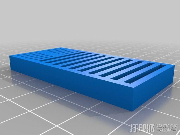SD卡放置器 3D模型  图2