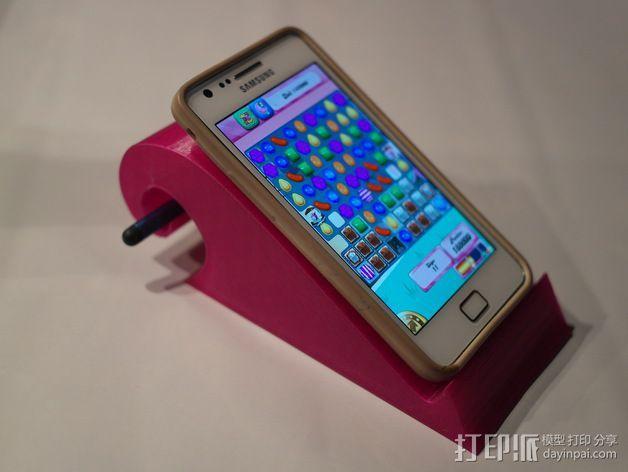 弧形手机座 3D模型  图2