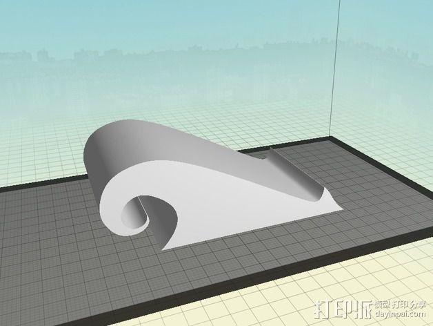 弧形手机座 3D模型  图4