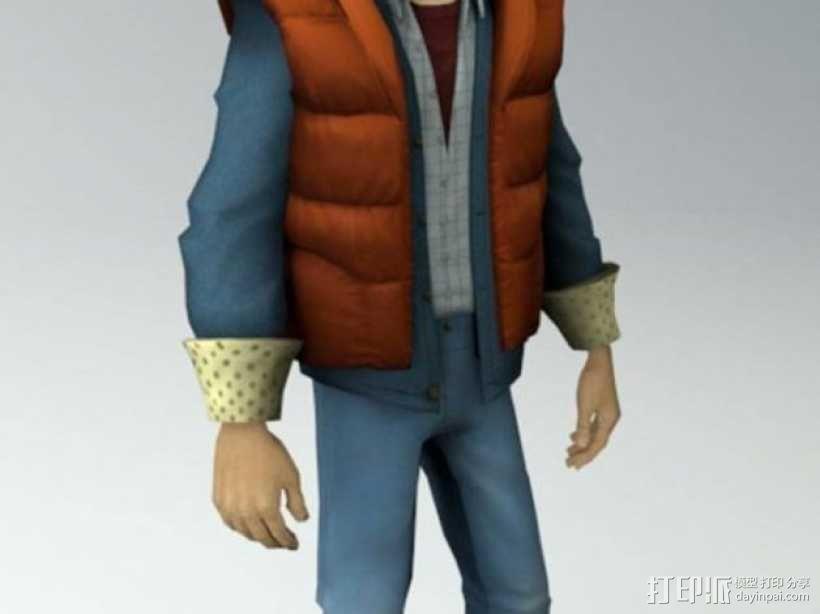 Marty McFly人物摆件 3D模型  图1