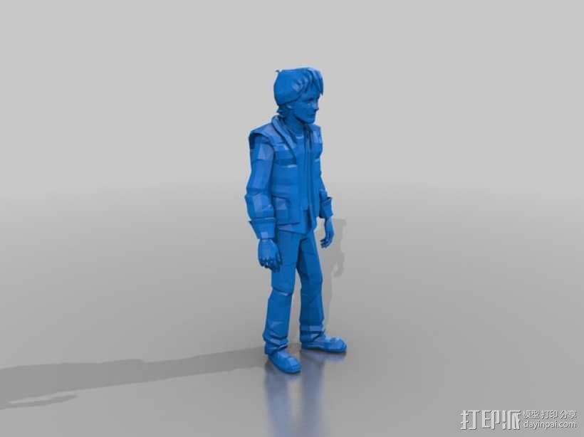 Marty McFly人物摆件 3D模型  图2