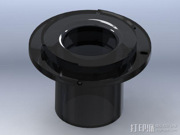 尼康单反相机适配器 3D模型  图1