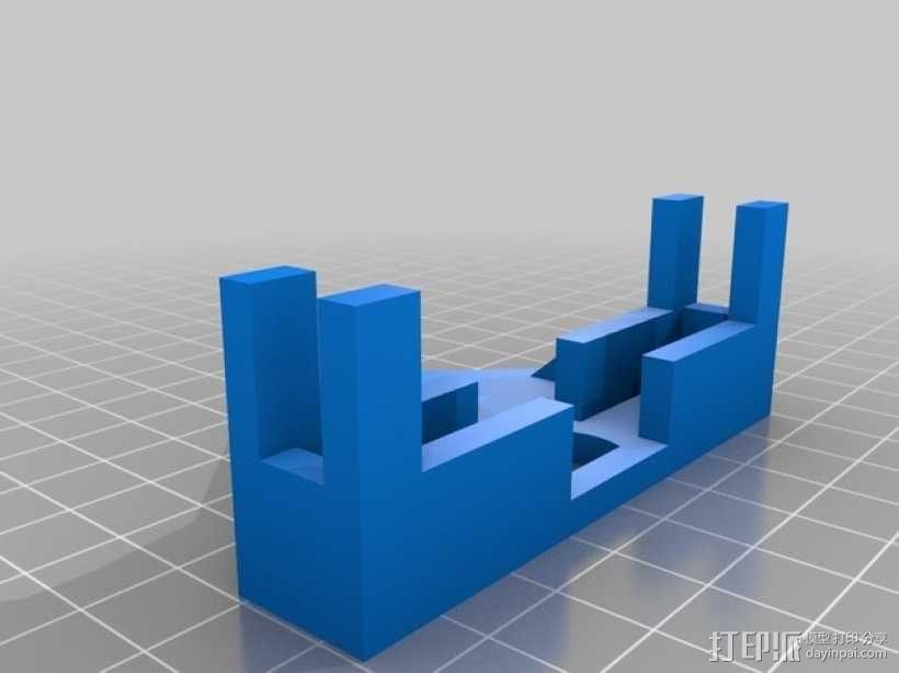 Samsung S4三角架适配器 3D模型  图1