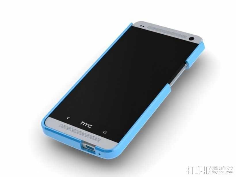 HTC One手机壳 3D模型  图1