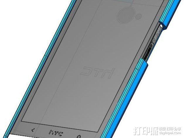 HTC One手机壳 3D模型  图3