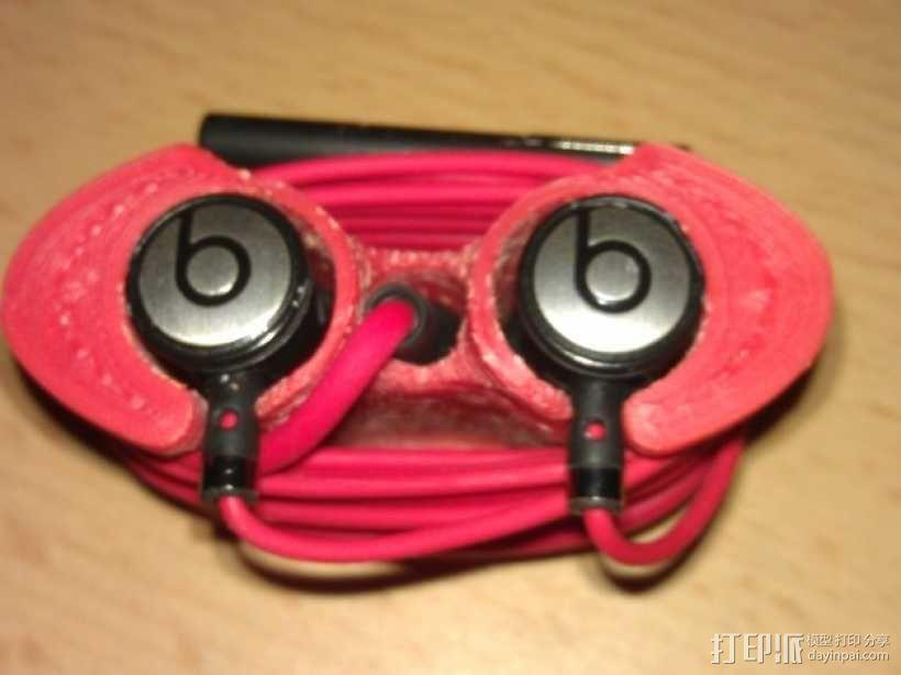 Beats audio绕线器 3D模型  图1