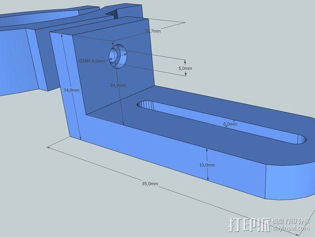 照相机把手 3D模型  图4