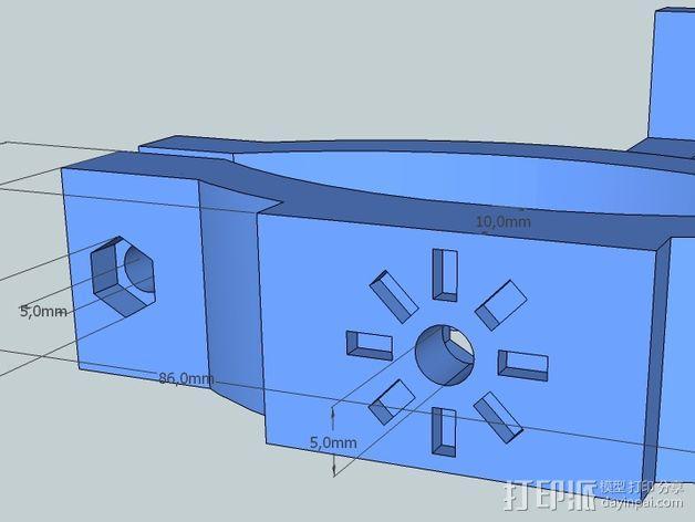 照相机把手 3D模型  图5