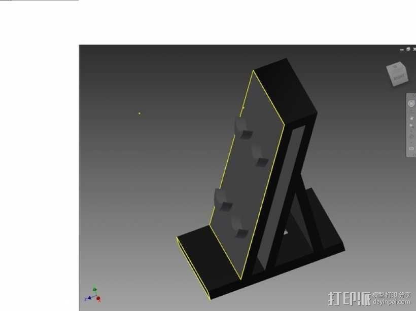 Ps4 控制器站 3D模型  图1