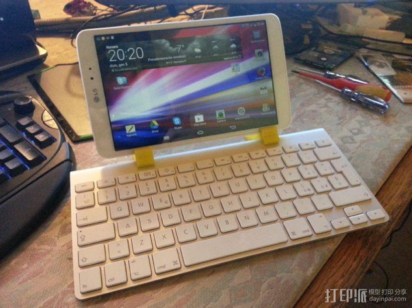 苹果无线键盘和LG PAD连接器 3D模型  图1