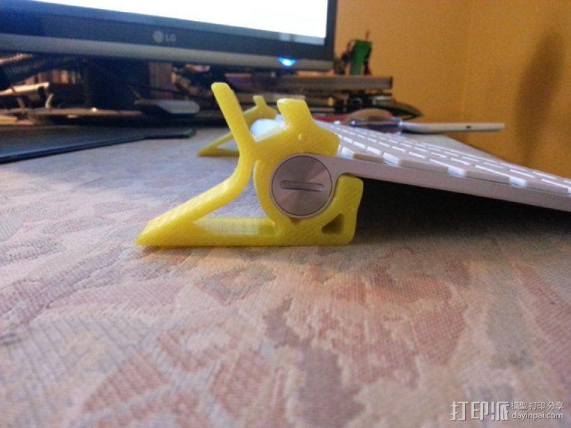 苹果无线键盘和LG PAD连接器 3D模型  图4