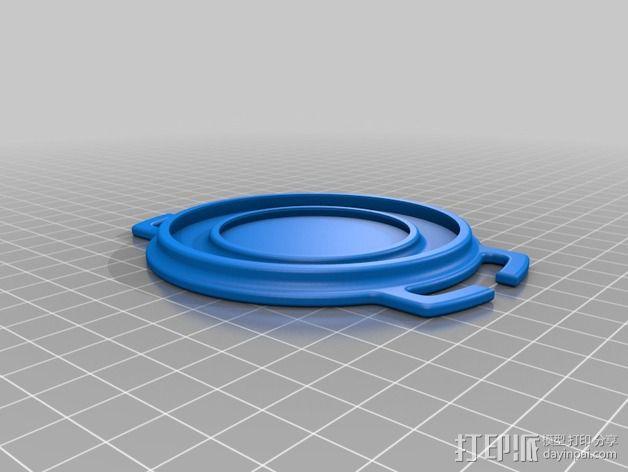 尼康镜头盖 3D模型  图2
